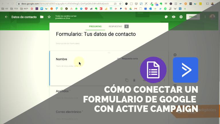 Cómo conectar Google Forms con Active Campaign mediante Zapier